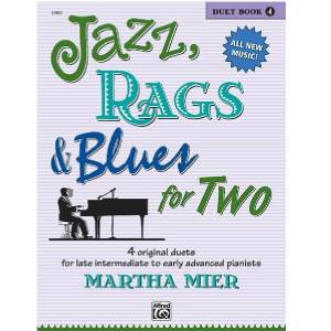 Jazz, Rags & Blues for 2 Book 4 - Martha Mier