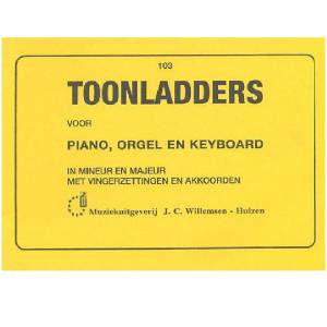 Toonladders voor Piano, Orgel en Keyboard - WILLEMSEN