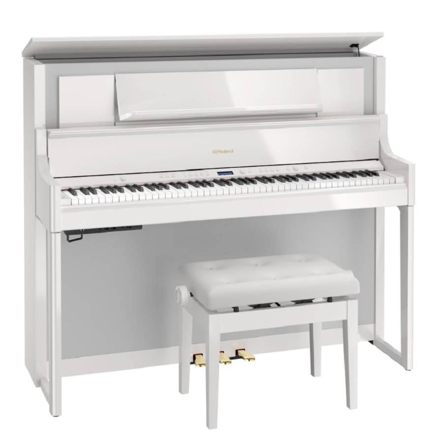 Hoogglans Witte Piano.Roland Lx 708pw Digitale Piano