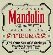 D'Addario J74 Medium Mandoline Snaren